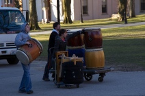 Gendo members on their 6am drum moving hustle. We love Scott from Yamatai!
